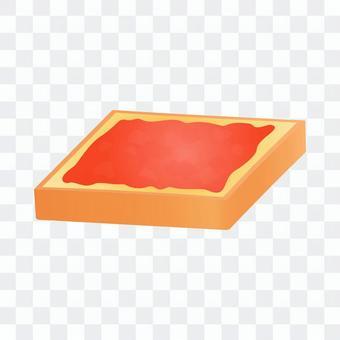 トースト(いちごジャム)