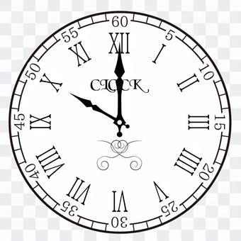 Clock 10:00 22:00