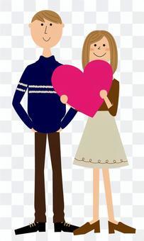 一對夫婦心臟
