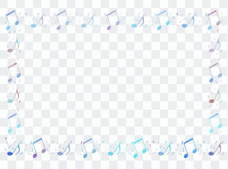 音符框架藍色