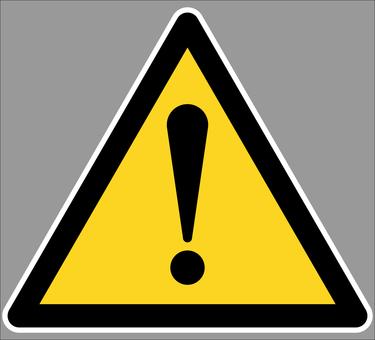 黃黑三角警示標誌!白邊透明