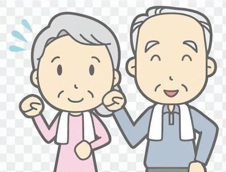 Elderly couple-walking-bust