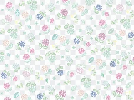 雨季繡球花背景素材4