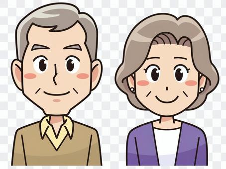 一對老年夫婦