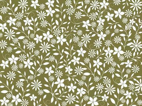 花卉圖案 - 橄欖