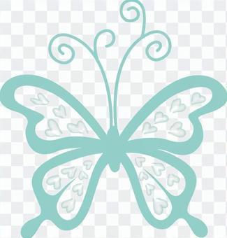 心蝴蝶綠色