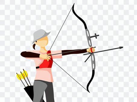 Athletes doing archery