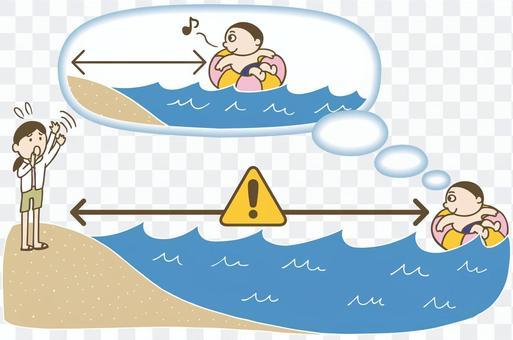海水浴の注意点 イラスト カラー版