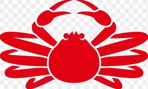 Matsuba crab _ Silhouette _ 02 _ red