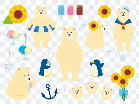 北極熊的插圖集合