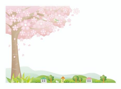 風景與櫻花