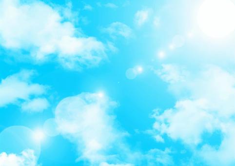 青空に太陽光