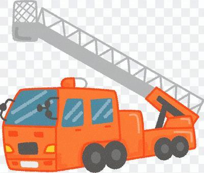 一辆梯子车