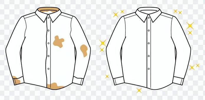 乾淨的Y恤衫和臟的Y恤衫