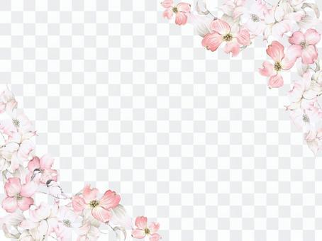 花框181  - 粉紅茱萸鑰匙圈型花框