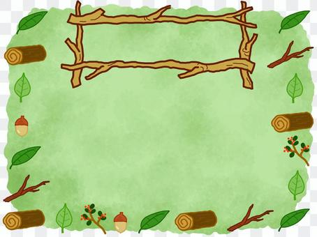 Forest Nature Organic Wood Frame Green