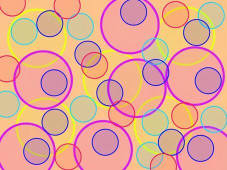 圓點圖案花式橙色圓點