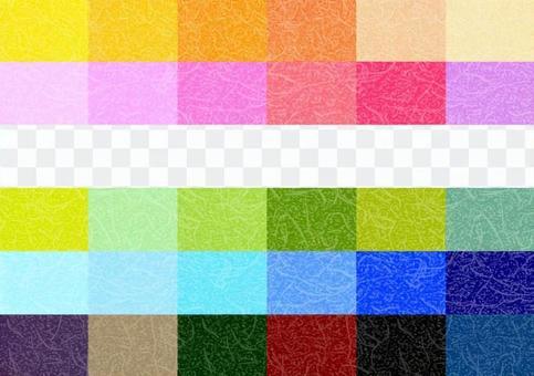 30 color Japanese paper pattern texture background set