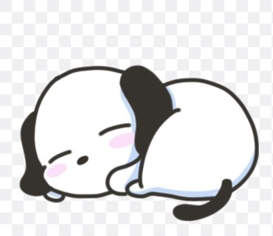 Illustration of a sleeping beagle dog