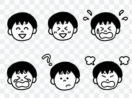 Boy facial expression set (simple)
