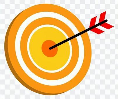 打中間,三維,向右,對角線(黃色
