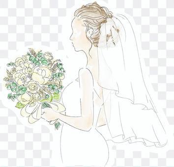 穿著婚紗的女人