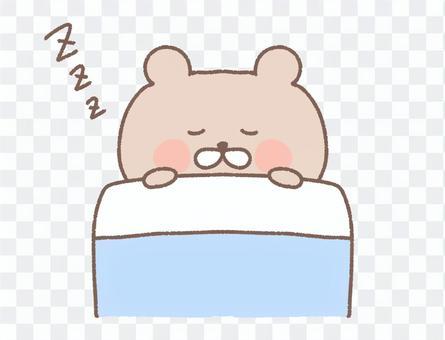 寝る くま