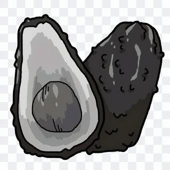 鱷梨(黑色和白色)