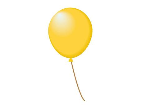 1個氣球黃色