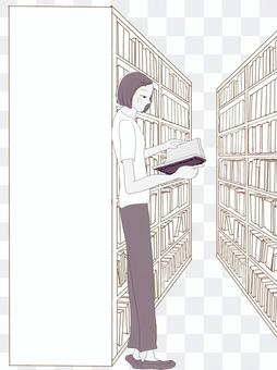 圖書閱讀器(女性,棕褐色)