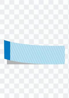 粘性垂直条纹(蓝色)