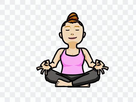瞑想 呼吸 女性