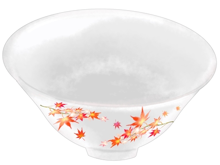 楓葉紋飯碗