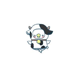 ニワトリちゃん♀被り物(牛)