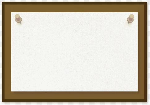紙圖釘板留言簿公告板例證框架