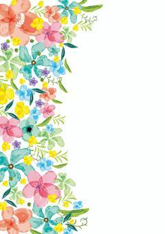 斯堪的納維亞多彩手寫花束