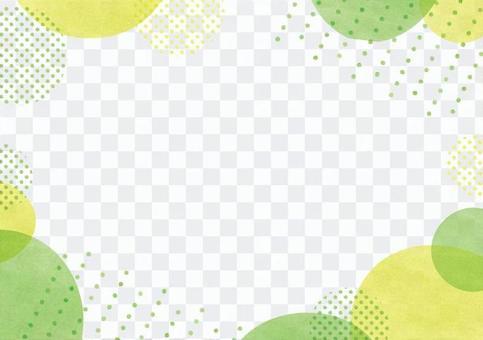 프레임 물방울 녹색