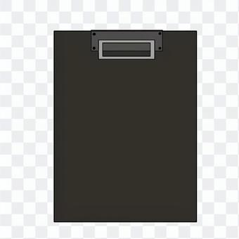 黒のクリップファイルのイラスト02