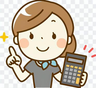 美容師woman_Calculator