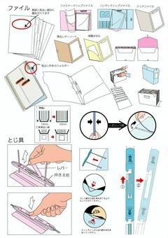 File / Clear file / binding material etc