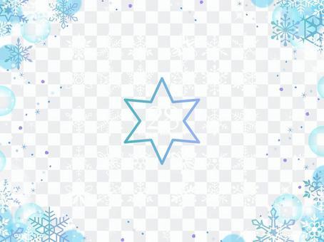 Snowflake icon and frame illustration