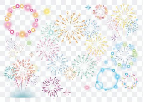 Fireworks illustration & frame SET