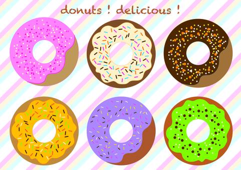 各種甜甜圈