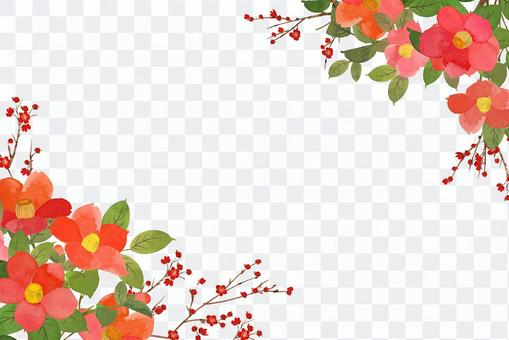 山茶花和白豆