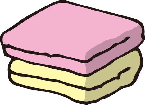 Towel (pink · yellow)