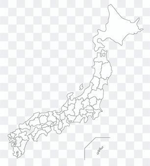 日本背景地图