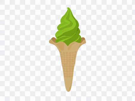 軟冰淇淋_抹茶味