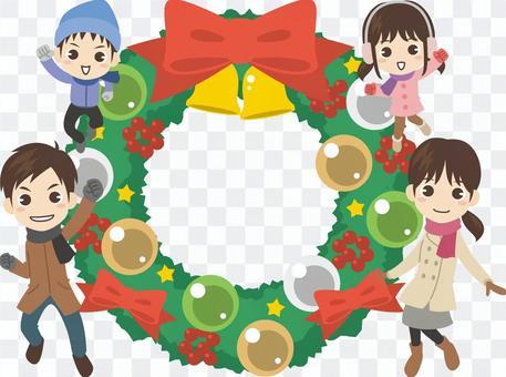 BZ019_聖誕節家庭框架3