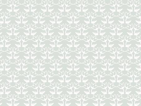 Modern floral pattern 12 grey / white background