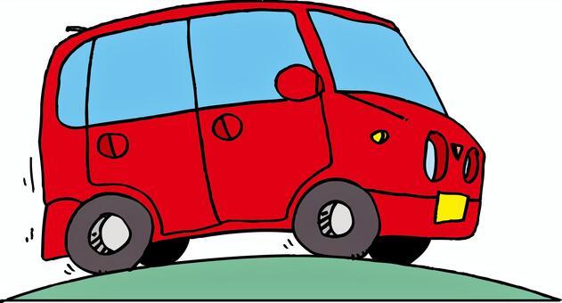 红色的旅行车